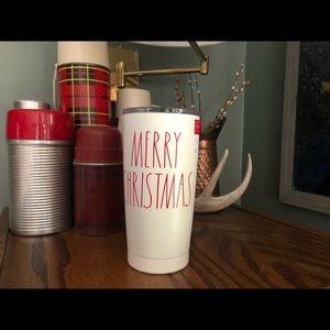 NWT Rae Dunn Merry Christmas Stainless Steel Mug